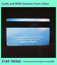 Tarjeta de banda magnética de plástico personalizada Offset/Serigrafía utilizada como tarjeta de prepago, Tarjeta de cajero automático, tarjeta de membresía, etc..