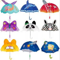 귀여운 아이들 3D 카툰 팝업 아이돔 우산 브로리 걸스 보이즈 레인 우산