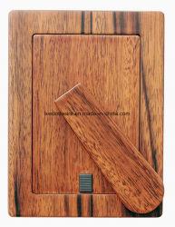 Cor de avelã em parede/mesa de madeira lacada foto Photo Frame Artesanato Diploma Certificado com suporte de madeira