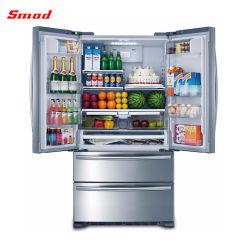 542L Home usado geladeira francês com chave de bloqueio de luz