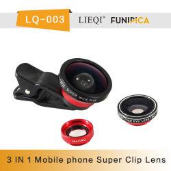 Lieqi LQ-003 3 en 1 lentille Super large 0.4X fisheye de 180 Degré objectifs macro