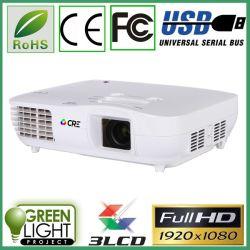 Fabricado en China 3000 lúmenes 3LED Digital de cine en casa 3 LCD Proyector de LED