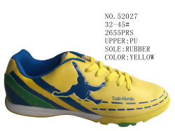 Nr 52027 de Gele Schoenen 32-45# van de Voorraad van de Voetbal van het Jonge geitje en van de Dame van Kleuren