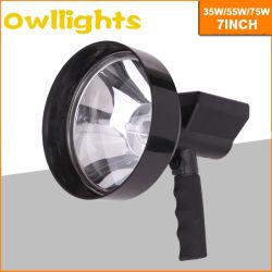 Para caminhadas, caça 7 Polegada 75W de potência elevada procura de 4X4 HID Luz noturna luz portátil HID