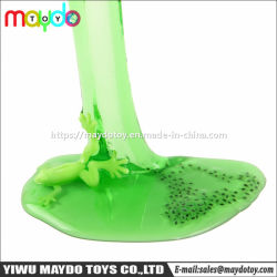 Novidade Frog Desovar Slime nojento Crystal Slime brinquedo com Inseto