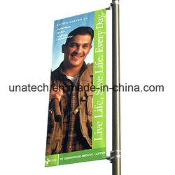 Rue lumière extérieure Pole enseigne publicitaire bannière de support de bras flexible
