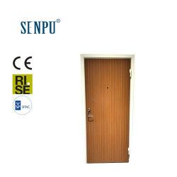 Estándar de uso residencial de Suecia el bastidor de acero interior de la puerta de chapa de madera