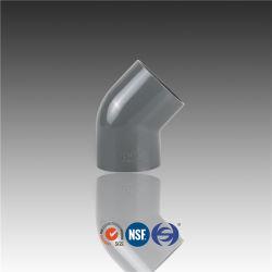 O cotovelo do tubo de PVC 45 de policloreto de Acessórios de plástico