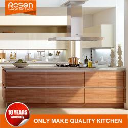 Le bois de placage en bois de teck les armoires de cuisine Mobilier de maison