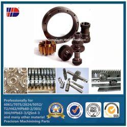 斜めのGear Pinion Rack Helical SpurおよびPinion Gears