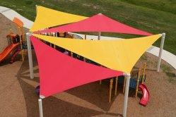 Het UV Bestand Zeil van de Schaduw van de Zon Polyester/PE