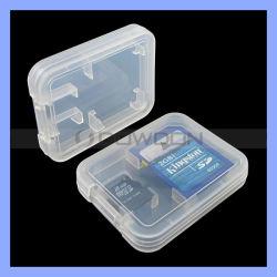 Precio mayorista de plástico de 2 en 1 caso de la tarjeta de memoria Micro SD SD