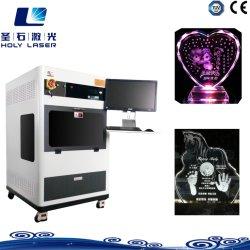 3D-Cube Crystal лазерной гравировкой машины для Сувенирный магазин в Интернете