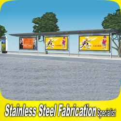 Haut de la vente s'asseoir en acier inoxydable jusqu'arrêt de bus de métal abri kiosque stand d'auvent