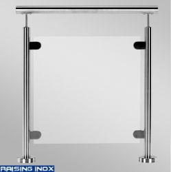 Neue Entwurfs-EdelstahlBalusters/Glasschelle-/Inox Balustrade-/Glasgeländer/rostfreie Befestigungen