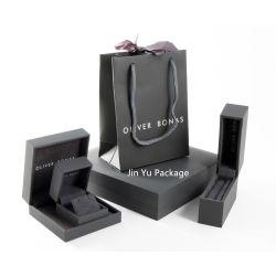 Custom Классическая черная кожа бумаги подарок украшения Упаковка Коробки оптовая торговля