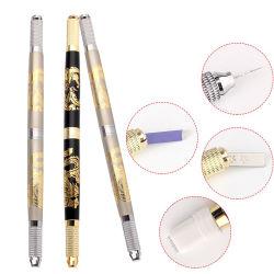 カスタマイズされたロゴの眉毛のMicroblading手動Micorbladingのハンドルのためのハンドメイドの入れ墨のペン
