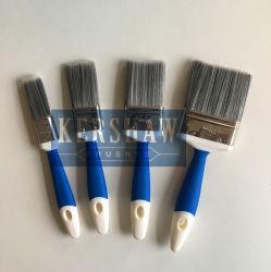 Paint Brush (pincel plano con filamento cónicos y mango de tacto suave, acero inoxidable Casquillo) ST-001