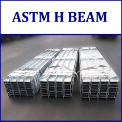 La norme ASTM A6 A36 A572 A992 Gr50 WF W HP faisceau H en acier/BS comme JIS FR REI H poutre d'acier/soudé H et T faisceau universel/ JE Beam