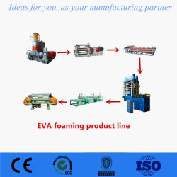 La formation de mousse EVA la vulcanisation Appuyez sur la machine avec quatre colonne pour la fabrication de chaussures en caoutchouc EVA feuille/unique
