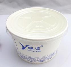 FDA стандартный сменный PLA бумага с покрытием чаша для продовольствия 500 мл, 680 мл, 960 мл