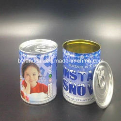 Packaging Artificial Snow를 위한 주석 Can