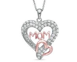 Commerce de gros cadeau du jour de la mère Sterling Silver & CZ Necklace Mode bijoux