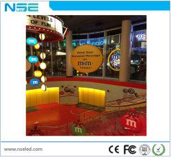Полноцветный магазин окна P5m Прозрачный дисплей со светодиодной подсветкой