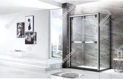 Stanza da bagno rettangolare di vetro di lusso scorrevole su ordinazione dell'acquazzone dell'hotel della Cina