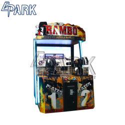 Carcasa metálica de 2 jugadores adultos Rambo II juego de disparos de pistola Arcade