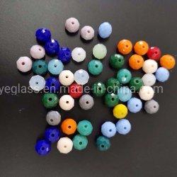 De kleurrijke K9 Parels van Rondelle van de Bal van het Glas van het Kristal facetteerden Vlakke Parels