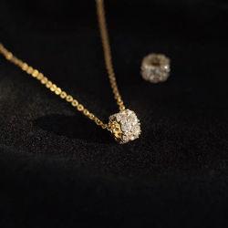 Diamante Collar Colgante Micro-Encrusted cordones de la Moda Mujer clavícula