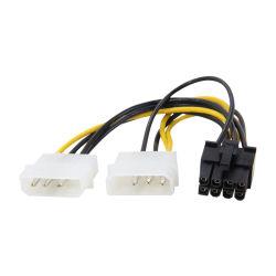 이중 4pin Molex Lp4에 8개의 Pin PCI 는 비디오 카드 힘 접합기 변환기 케이블을 표현한다