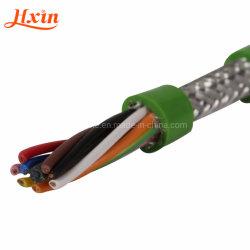 Trvvpの高く適用範囲が広い銅のコンダクターケーブルの低い煙ケーブルPVC絶縁体ケーブルハロゲン自由なケーブルの曲がることおよびねじりの抵抗の紫外線抵抗