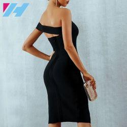 Women's une épaule Bandage Bodycon robe à fente latérale