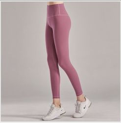 Mujeres Sexy transfronteriza Nine-Minute Fast-Drying fitness entrenamiento transpirable Scrunch Butt Leggings Hip-up pantalones de yoga