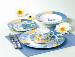 قوّة بحريّة اللون الأزرق خزف عشاء مجموعة بيع بالجملة [بون شنا] [دينّرور] مجموعة