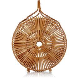 Cestino Handmade del Tote delle donne del sacchetto della spiaggia rotonda di bambù di estate