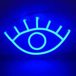 Декоративные мотивы светодиод подсветки Неоновые знак синего цвета глаз света