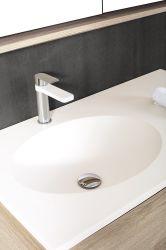 若者達は人工的な石、固体表面の虚栄心のキャビネットが付いている浴室の家具を好む
