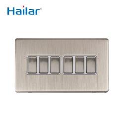 6 Pista 2 Forma de interruptor de pared accesorios eléctricos en el REINO UNIDO
