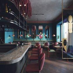 현대 호텔 공중 지역 가구 디자인 대중음식점