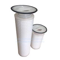 De grote Filter van het Plateren van de Patroon van de Zak van het Membraan van de Stroom 5/10/25/50 Micron Geplooide pp voor de Chemische Industriële Vloeibare Behandeling van het Nikkel