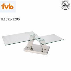 Кофейный стол устанавливает мрамором место на кухонном столе с металлической рамой из нержавеющей стали гостиной