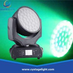 DJ/discoteca/Escardar/LED Iluminación de escenarios 37*10W/Lavado haz zoom Cabezal movible LED Lighting