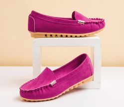 Chaussures femmes Mesdames antiglisse bateau Flats Shoes (18902)