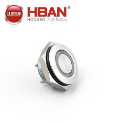 Nuovo tipo mini interruttore di Hban di pulsante terminale momentaneo piano dell'acciaio inossidabile del metallo di Pin del tondo IP65 1no di 16mm