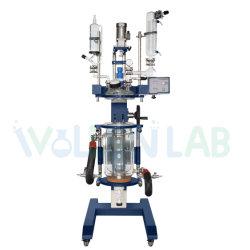 Banheira de vender Lab-Used elevando o Reactor de vidro com camisa de Química rotativa 10L