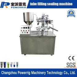 Semi-automático do creme de leite e produtos dermatológicos tubo estanqueidade de enchimento da máquina de embalagem