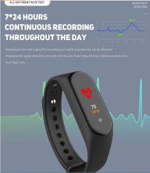 Frequenza cardiaca dell'inseguitore di forma fisica, video astuto di pressione sanguigna della fascia del nuovo schermo impermeabile astuto da 2019 del braccialetto M4 di colore IP67 IPS di tocco per gli uomini delle donne